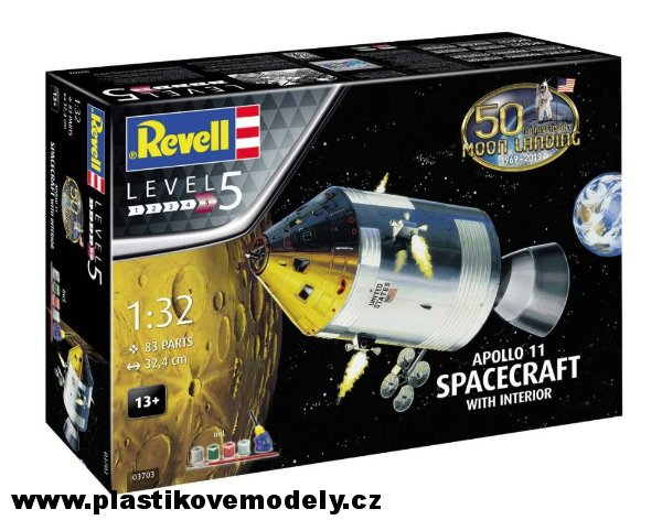 Apollo 11 Spacecraft with Interior (50 Years Moon Landing) (Revell 1:32) > 1:32