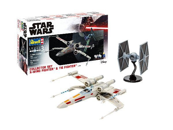 Set X-Wing Fighter (1:57) + TIE Fighter (1:65) > 1:56