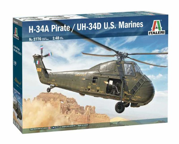 Model Kit vrtulník 2776 - H-34A Pirate /UH-34D U.S. Marines (1:48) > 1:48