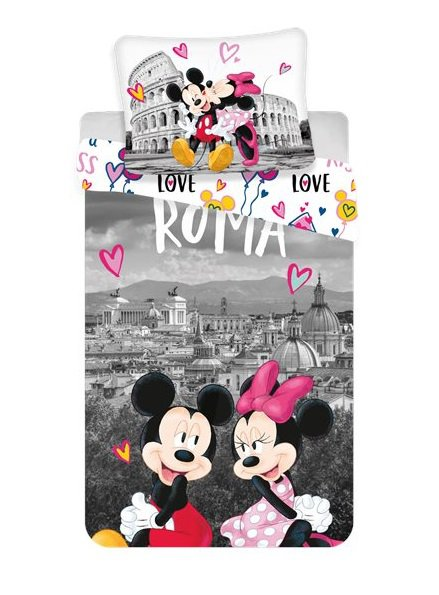 Jerry Fabrics Povlečení Mickey and Minnie in Rome > varianta 06 - MM in Rome