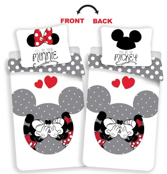 Jerry Fabrics Povlečení Minnie Mickey MM love grey > varianta 06 - MM love grey