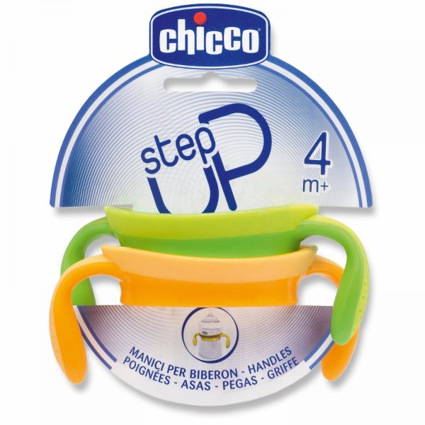 Chicco StepUp držátko na láhve 2 ks > varianta green/yellow
