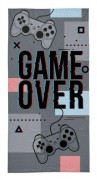 Osuška Game Over grey