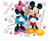 Nálepka Minnie a Mickey Love mini