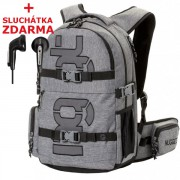 Studentský batoh Nugget Arbiter 4 D Backpack Light Heather Grey - Doprava Zdarma