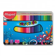 Trojhranné pastelky Maped 48 barev Color´Peps Metal Box