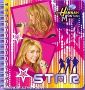 Spirálový notes Hannah Montana