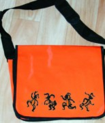 Messenger bag - orange - sign