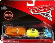 CARS 3 (Auta 3) - Lightning McQueen as Chester Whipplefilter (Blesk)  +  Luigi  +  Guido with Cloth