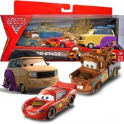 CARS 2 (Auta 2) - 3pack - Race Team Mater  +  Lightning McQueen with Racing Wheels  +  Kingpin Nobunaka