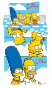 JERRY FABRICS Povlečení Simpsons Family Clouds 140x200,  70x90