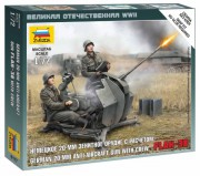 Wargames (WWII) letadlo 6117 - German Anti-Aircraft Gun with Crew (Zvezda 1:72)