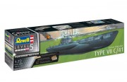 Ponorka German Submarine Type VII C/41 (Platinum Edition) (Revel1:72)