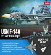 Model Kit letadlo 12563 - USN F-14A VF-143 Pukin Dogs (1:72)