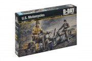Model Kit military 0322 - U.S. MOTORCYCLES WW2 (Italeri 1:35)