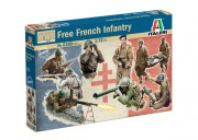 Model Kit figurky 6189 - WWII - Free French Infantry (Italeri 1:72)