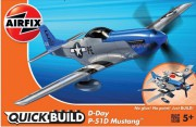 Quick Build letadlo J6046 - D-Day P-51D Mustang (Airfix)