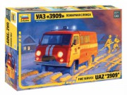 Model Kit auto 43001 - Fire service UAZ 3909 (Zvezda 1:43)