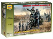 Model Kit military 3632 - German R-12 Heavy Motorcycle with Rider (Zvezda 1:35)