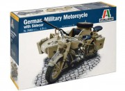 Model Kit military 7403 - German Military Motorcycle with Sidecar (Italeri 1:9)