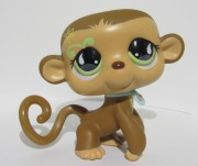 LITTLEST PET SHOP opička  +  obojek  cca 14cm LPS