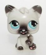 LITTLEST PET SHOP - kočka kočička  +  magnet - hýbací LPS PUSH N  PLAY 01