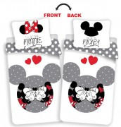 Jerry Fabrics Povlečení Minnie Mickey MM love grey