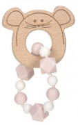 Kousátko Lässig 4babies Teether Bracelet Wood/Silicone Little Chums