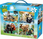 Animal world Zvířata puzzle 4v1 (4 + )